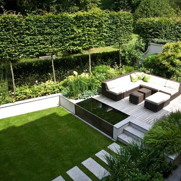 De 7 mooiste tuinaanleg voorbeelden en idee n hugo de hovenier - Tuin met openlucht design ...