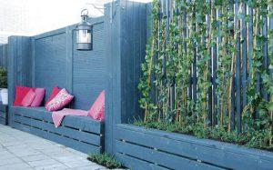 een schutting in uw tuin